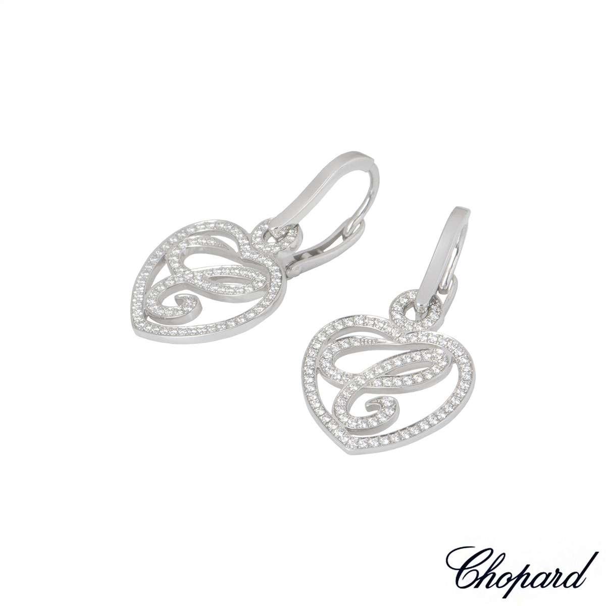 Chopard White Gold Happy Diamonds Earrings 837223-1001